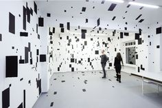 Esther Stocker, Disorienting Geometric Installations, art, sculpture, installations