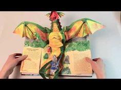 (HD) Encyclopedia Mythologica Dragons & Monsters pop up book - YouTube