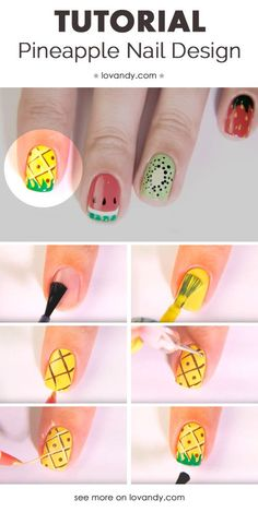 Cute nail art idea.