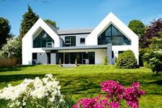 Image result for contemporary bungalow with glass entrance