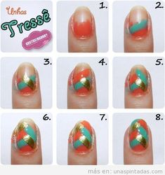 97 Awesome Easy Nail Art Designs Tutorials for Beginners - Beauty Ideas Beginner Nail Designs, Nail Art For Beginners, Diy Nail Designs, Simple Nail Art Designs, Pretty Designs, New Nail Art, Easy Nail Art, Nail Art Diy, Cool Nail Art