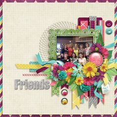 Friends Credits: Bekah E Designs - Sunshine & Happiness Elements - Paper Pack - Patterned Paper Pack - Burlap - Frames - Flair - http://www.gottapixel.net/store/product.php?productid=10009763&cat=&page=1