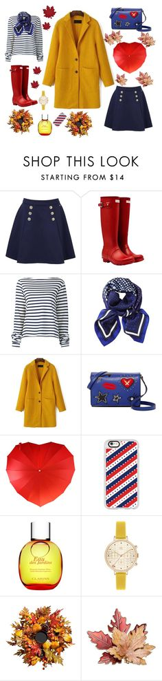 """""""Untitled #26"""" by aleks-sashka ❤ liked on Polyvore featuring Tommy Hilfiger, Hunter, Jacquemus, John Lewis, French Connection, Casetify, Clarins, Orla Kiely, Improvements and Homewear"""