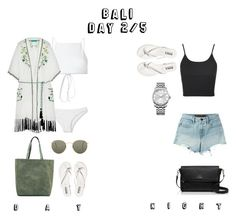 """""""BALI"""" by ksasya on Polyvore featuring Ack, Matthew Williamson, Ray-Ban, Topshop, T By Alexander Wang, Kate Spade and Calvin Klein"""