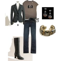 wool blazer with jeans