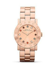 MARC BY MARC JACOBS Amy Rose Gold Glitz Watch, 36mm - All Watches - Watches - Jewelry & Accessories - Bloomingdale's