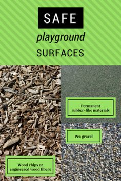Most playground injuries are caused by falls. Keep your child safer by choosing a playground with safe surfacing under and around equipment. Playground Safety, Pea Gravel, How To Dry Basil, Surface, Children, Young Children, Boys, Kids, Child