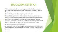 Características de la educación estética