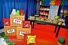 ideias para fazer festa infantil angry birds