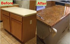How To Refinish Your ~~ Kitchen Counter Tops For Only $30!