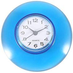Saugnapf Wasserdicht Runde Mini Wanduhr Quarz Uhren Dekoration Fur Badezimmer Kuche Wohnzimmer Schlafzimmer Blau Derevyannye Chasy Chasy