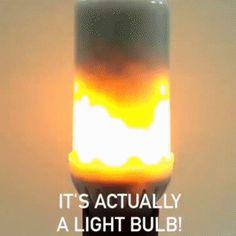 Светодиодная лампа с эффектом живого огня