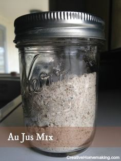 Easy au jus mix you can make ahead of time and have on hand to make French Dip sandwiches.