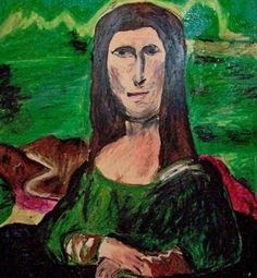 The Mana Lisa, which can be seen at the Museum of Bad Art in Massachusetts.