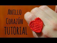 Anillo corazón ♥︎ macrame tutorial | como hacer | how to