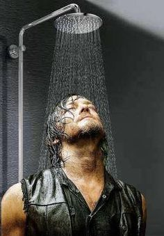 Daryl Dixon in a shower? Never!
