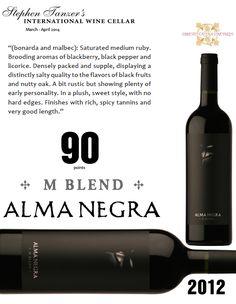 #AlmaNegra M Blend 2012 - 90 points - Stephen Tanzer's International #Wine Cellar