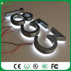 50.00$  Buy now - http://alivz2.worldwells.pw/go.php?t=32787293568 - Wholesale brushed stainless steel LED backlit house number light signs 50.00$