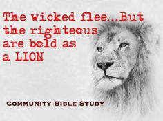 Be bold...God loves you and will protect you. www.communitybiblestudy.org