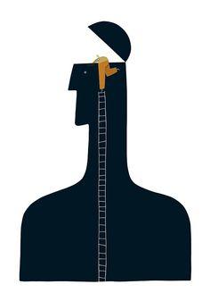 Little Man / Press Illustration Ii by Martin Leon Barreto