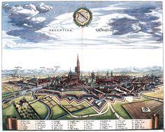 Vue générale de Strasbourg en 1644