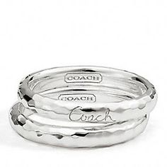 Rings, Stacked Rings, Pave Rings, and Enamel Rings from Coach