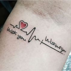 EKG Tattoo Ideas | Mind Blowing Heartbeat Love Quote Tattoo Design On Arm