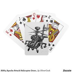 AH64 Apache Attack Helicopter Drawing Card Decks