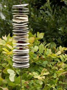 If you were looking for garden totems, take a look below Ceramics Projects, Clay Projects, Ceramic Pottery, Ceramic Art, Garden Works, Garden Totems, Ceramic Flowers, Abstract Sculpture, Yard Art