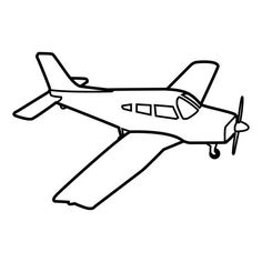 Black And White Jet Picture For Coloring