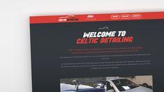 Website Design for Celtic Detailing in Bude, Cornwall - celticdetailingbude.co.uk  #bude #cornwall #design #detailing #çeltic #graphics #website #designer Bude Cornwall, Website Designs, Celtic, Graphics, Charts, Graphic Design, Site Design, Website Layout, Design Websites
