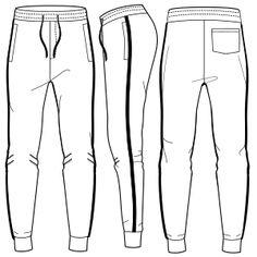 Patrones ropa bebes, uniformes, chicos, chicas... Jogging 7120 HOMBRES Pantalones