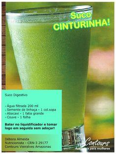 Suco Cinturinha Smoothies Detox, Detox Diet Drinks, Light Recipes, Clean Recipes, Healthy Recipes, Fitness Diet, Health Fitness, Dieta Fitness, Dietas Detox