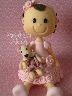 Topo de bolo para Sophia Akita