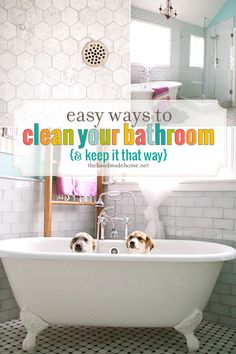 easy ways to clean your bathroom - the handmade home