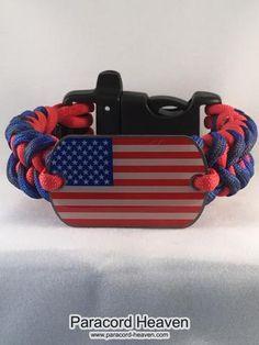 American Pride Shark Teeth Paracord Bracelet with emergency Whistle Buckle - Paracord Heaven - 1