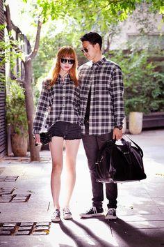 ˚✧ Ulzzang couple ✧˚. Ulzzang Fashion, Korean Fashion, Daily Fashion, Fashion Online, Stylish Couple, Korean Couple, Fashion Couple, Couple Outfits, Asian Style
