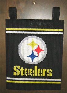 plastic canvas patterns free printable | Steelers Banner Plastic Canvas Pattern | eBay