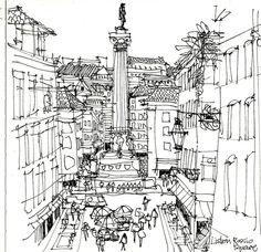 rossio square lisbon | Flickr: partage de photos!