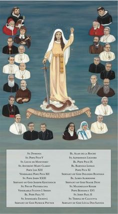 RELATED PRODUCTS -THE 26 CHAMPIONS OF THE ROSARY WITH NAMES 10 X 18 CANVAS, GALLERY WRAP | ShopMercy