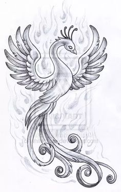 Phoenix design by *whiteshaix on deviantART on We Heart It