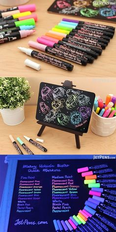 Create attractive chalkboard art that grabs people's attention. These bright Marvy Uchida Bistro Chalk Markers are fantastic for writing vibrant menus and other signage on whiteboards, light boards, windows, windshields, and other non-porous surfaces. Stationary Store, Stationary School, School Suplies, Cool School Supplies, Study Room Decor, Chalk Markers, Cute Stationery, Too Cool For School, Chalkboard Art