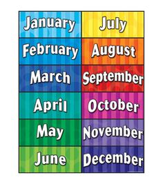 Teacher Created Resources Months of the Year Chart Education Quotes, Kids Education, Higher Education, Education Galaxy, Texas Education, Teacher Created Resources, Teaching Resources, Teaching Ideas, Learning Tools