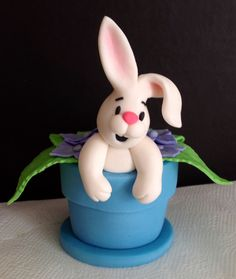Easter Bunny Sugar paste Cake Topper