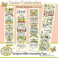 Easter Bible Bookmarks Full Color Bible by karladornacher on Etsy