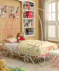 Look what I found on #zulily! Pink & White Three-Piece Princess Bed Set #zulilyfinds
