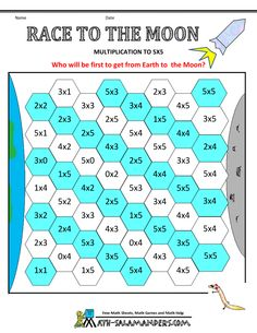math games second grade race to the moon multiplication to 5x5-- this site has a bunch of free multiplication games!!
