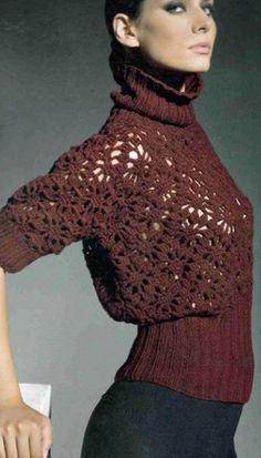 Ganchillo suéter con estilo