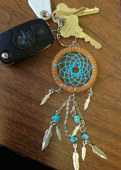 Dream Catcher Keychain by AmericanAntiquitas on Etsy, $15.00