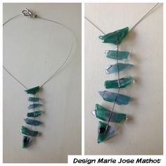Glassfused fish pendant